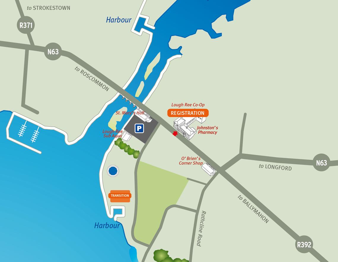 Two Provinces Aquathon Parking & Registration